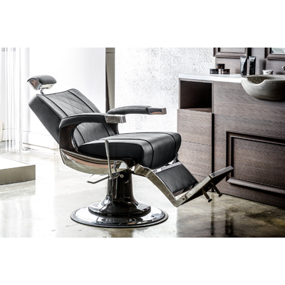 Barberarstol Zeus Easy black