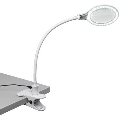 Bordförstoringslampa LED med fäste för bord